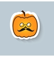 Pumpkin hipster round glasses vector image vector image