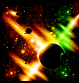 Retro space background vector image vector image