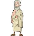 roman philosopher vector image vector image