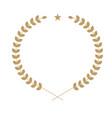 round wreath symbol with leaf and star icon vector image vector image