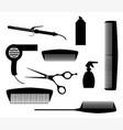 salon tools vector image