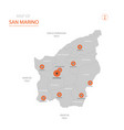 san marino map with administrative divisions vector image vector image