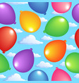 seamless background with balloons 2 vector image