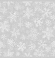 seamless pattern of many layers of snowflakes vector image vector image