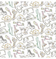 seamless pattern with cartoon african vector image