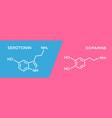 serotonin and dopamine hormone symbols human body vector image vector image
