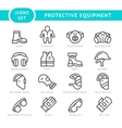 Set line icons of protecting equipment vector image vector image