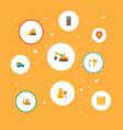 set of construction icons flat style symbols with vector image