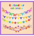 Set of four festive garlands for all occasions vector image