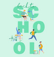 set pupils school children students vector image vector image