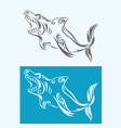 shark tribal vector image