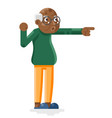 shocked african american european old man adult vector image vector image