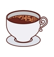 silhouette small cup of tea vector image vector image