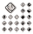 simple business and office tools icons vector image vector image