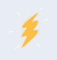 sketch zigzag lightning vector image vector image