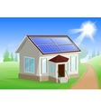 Solar energy Caring about environment House with vector image