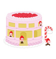 Strawberry cheesecake home and resident vector image vector image