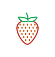 strawberry color icon line symbol isolated vector image vector image