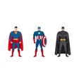 Superhero costumes set vector image vector image