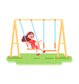 Swinging Kid Seesaw Composition vector image vector image
