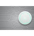 technology future circuit white modern circle vector image vector image