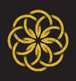 tribal symbol in circular mandala form vector image vector image
