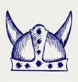 Viking helmet vector image vector image