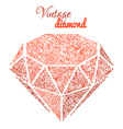 Vintage floral diamond vector image