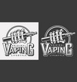 vintage vaping logotypes vector image vector image