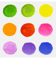 watercolor blots set transparent background vector image vector image