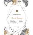wedding invitation template design vector image vector image