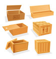 Wooden and plywood boxes or cases set