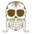 sugar skull one color vector image