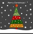 a christmas fir tree vector image