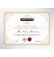 Elegant certificate template design vector image