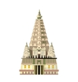 Mahabodhi temple icon isolated on white background vector image