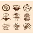 Sketch meat labels vector image