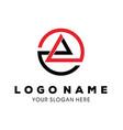 abstract symbol mountain template logo design vector image