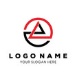 abstract symbol of mountain template logo design vector image