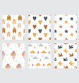 baand children seamless patterns with rainbow vector image vector image