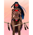 Beautiful amazon warrior vector image