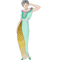 beautiful retro style woman vector image vector image