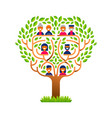 big family tree with happy people icons vector image