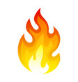 burning fire icon flaming and explosion heat vector image vector image
