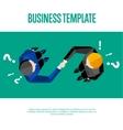 Business template Top view partners handshaking vector image vector image