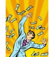 Businessman Finance money fall vector image vector image