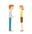businessman flirting secretary woman office vector image vector image