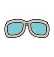 cartoon sunglasses accessorie travel vector image