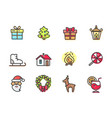 christmas objects collection vector image vector image