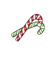 christmas or new year green candy cane vector image